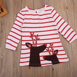 Other - Reindeer Christmas dress A line girls NWT